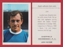 Sheffield Wednesday John Fantham 214